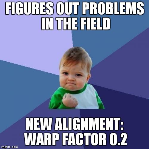 Warp Factor Success